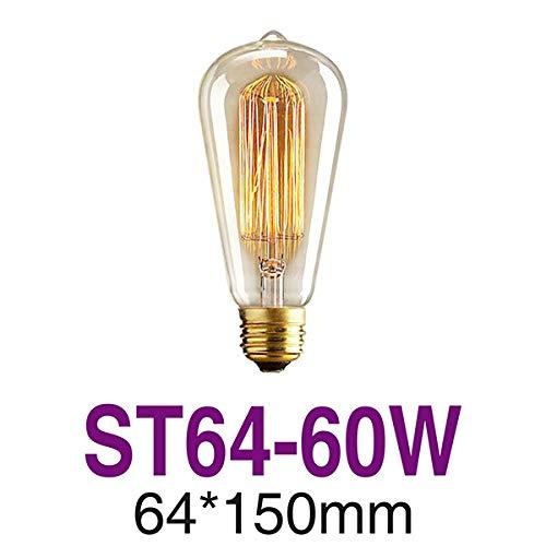 LED-gloeilampen voor decoratieve gloeilampen Edison-gloeilampen in retro-stijl, E27, 25 W, 40 W, 60 W, St64, 230 V, gloeidraad, vintage Edison-licht voor hanglamp, St64-60