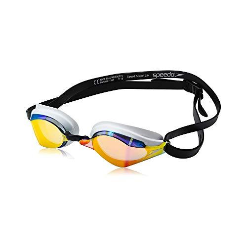 Speedo Unisex-Adult Swim Goggles Speed Socket 2.0 , Vapor Mirrored