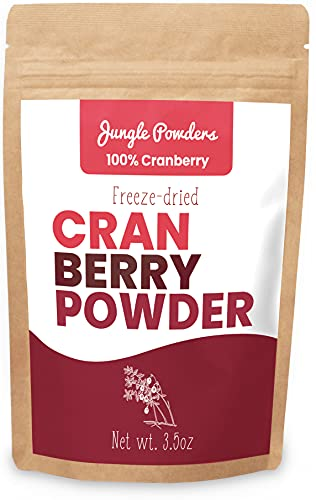 Jungle Powders Wild Cranberry Powder 3.5oz Natural Freeze Dried Whole...