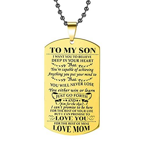 Hija Hijo Perro Grande Marca Colgante Collar Amor Padre Madre Collar De Oro Ejército Acero Inoxidable Acero Inoxidable Tarjeta Militar Joyería Familiar
