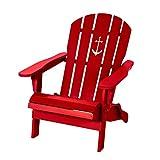 Pureday Outdoor-Stuhl Anker - Adirondack Chair, klappbarer Gartensessel - Maritimer Look - Holz
