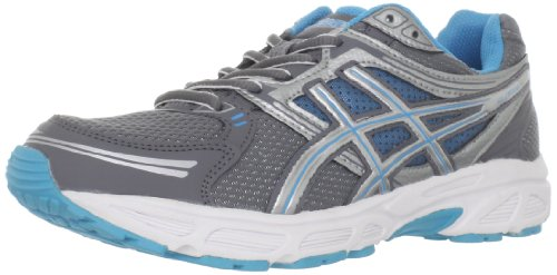 ASICS Women's GEL-Contend Running Shoe,Titanium/Lightning/Electric Blue,5 M US