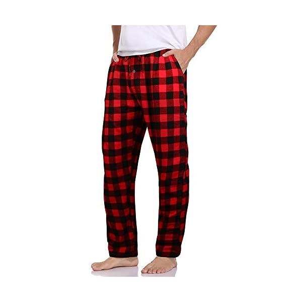 ILUVIT Men's Woven Sleep Pajama Pant Men Flannel Pajama Pants Cotton Sleep Pant Lounge Sleepwear Pants with Pockets S-XXL