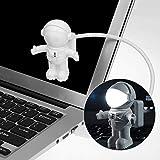 Astronaut Nachtlicht Spaceman Astro Lampe Hangrui Flexible Mini USB-LED Lampe Licht für...