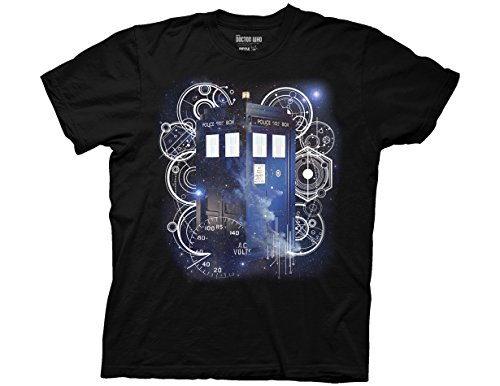 Ripple Junction Doctor Who Tardis Space Tech Adult T-Shirt X-Large Black