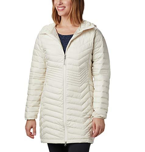 Columbia Damen Powder Lite Mittellange Jacke, beige (Chalk), S