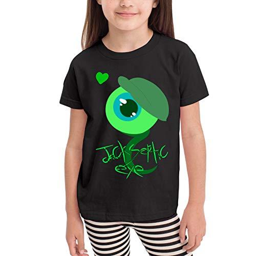 Jacksepticeye Logo Camisetas gráficas para niñas Adolescentes, niños y niñas, Camiseta de Manga Corta, Camisetas de algodón, Camisetas para niños, Tops 2-6t