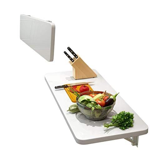 SYLTL Wandtisch Wandtisch, Kleiner Wandtisch für den Haushalt, stanzfreier Küchenwandtisch, weißer unsichtbarer Wandbehang-Studiertisch, 100 kg tragend