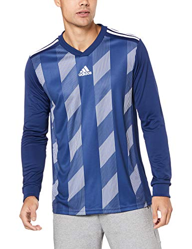 adidas Herren Striped 19 Langarm Trikot, Dark Blue/White, M