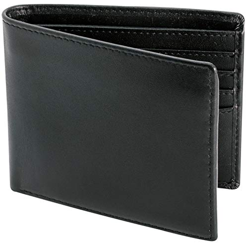 Top Grain Leather Wallet for Men | Ultra Strong Stitching | Handcrafted Argentinian Leather | RFID Blocking | Extra Capacity Bifold Wallet with 2 ID Windows | Slim Billfold with 12 Card Slots | Perfect Gift for Him