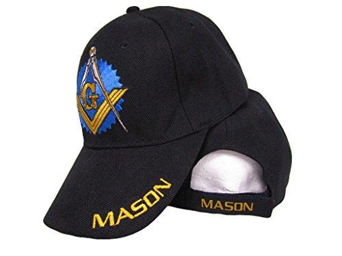 Infinity Black Mason Freemason Mason Lodge Blue w/Shadow Hat 3D Cap