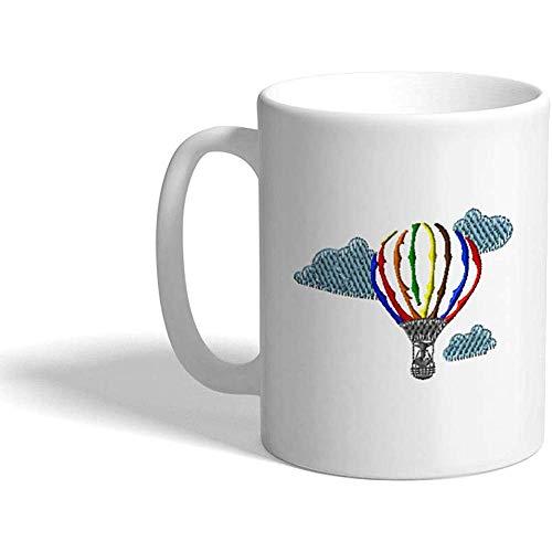 Gewohnheit Kaffeetasse 330 ml Ballon A Autos und Transport-Heißluft, die keramischen Tee-Schalen-Entwurf im Ballon aufsteigt
