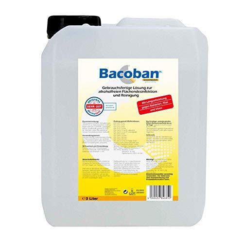 BACOBAN® Langzeit Flächendesinfektion, wasserbasiert - Fertiglösung, 3 Liter Desinfektion gegen Viren und Baterien