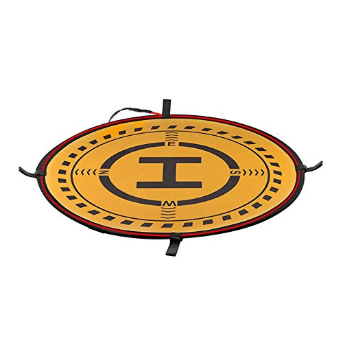 DJFEI Landing Pad für DJI Air 2/Mini 2/ FPV Drone, Tragbare Landing Pad Landeplatz mit LED Beleuchtung für DJI Mavic Mini/Mini 2/Mavic Pro/Mavic Air/Mavic Air 2/FPV Drone (B)