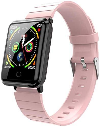 Reloj inteligente de medición de temperatura corporal, pulsera inteligente con monitor de frecuencia cardíaca, presión arterial, monitor de actividad física para niños, reloj deportivo rosa