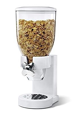 Distributeur de céréales/aliments secs/épices/grains de café,conteneur simple/double, noir/blanc au choix