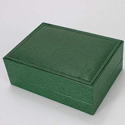LITOSM Uhrenbox,Uhrenkoffer W.Omen für hölzerne Uhrenbox Fall Organizer Innere Äußere Herrenuhren Boxen Männer Armbanduhr Grüne Holzkisten Elegance (Color : 1)