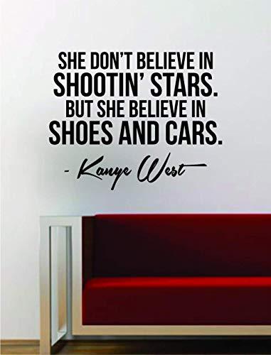 Kanye West Schuhe und Auto Zitat Aufkleber Aufkleber Wand Vinyl Kunst Musik Texte Hauptdekoration Yeezy Yeezus Girls