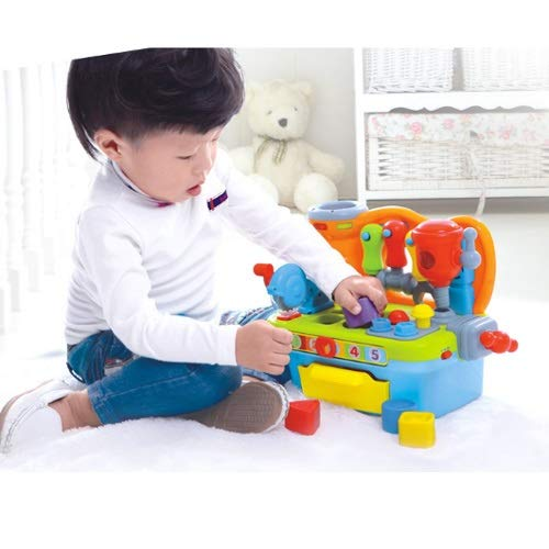Lihgfw Multifunktionaler Werkzeugtisch, Kinderpuzzlespielraum, Bausteine, Simulationstools,...