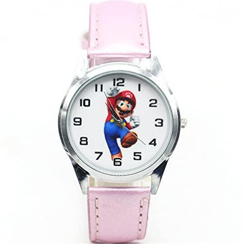 Reloj de super mario Reloj de dibujos animados para niños Relojes de pulsera para niños Reloj de pulsera para mujer Reloj de cuarzo para mujer Horas para niñas Niños Regalos Reloj para niños Reloj