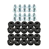 20 Pieces Motorcycle Replacement Detachable Windshield Bushings Rubber Grommets For Yamaha Suzuki Parts Black
