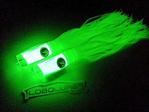 Lobo Lures 2 Pack Typhoon XL Super Glow Natural Trolling Lure -Made in The USA