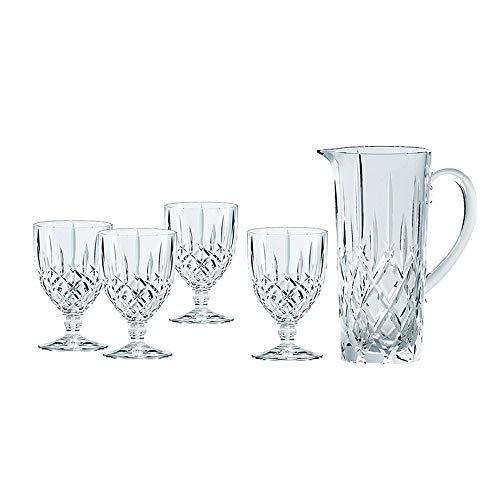 Spiegelau & Nachtmann, 5-teiliges Krug-Set, 1x Krug (1190 ml) + 4 All Purpose-Gläser (350 ml), Kristallglas, Noblesse, 102387