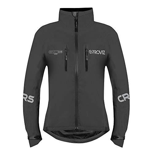 Proviz Womens REFLECT360 CRS (Colour Reflective System) Cycling Jacket Black