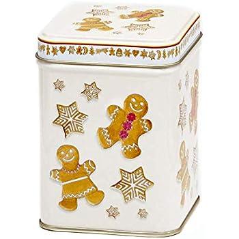 Aromas de Té - Lata de Metal para Té - Diseño Galletas Navidad - Caja de Té/Recipiente Contenedor Almacenamiento de Té - Capacidad 100 gr: Amazon.es: Hogar