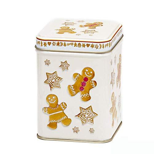 Aromas de Té - Lata de Metal para Té - Diseño Galletas Navidad - Caja de Té/Recipiente Contenedor...