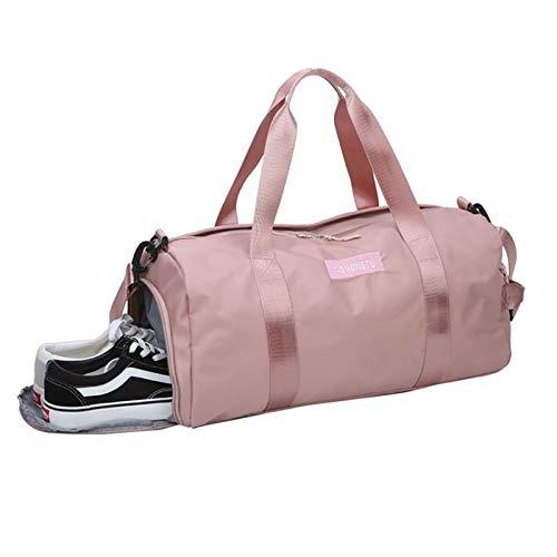 AOO Bolsa de Gimnasio para la Escuela, Bolsa de Gimnasia Viaje de Deportes Bolsa de Lona con Zapatos de Bolsillo con Mojado seco Compartimiento para Hombres Mujeres,B