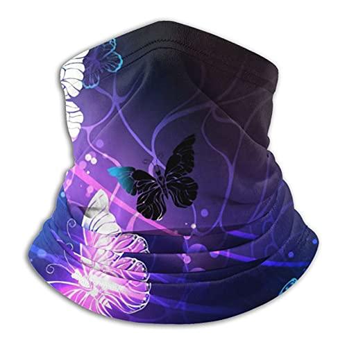 Máscara de mariposas que brilla intensamente respirable para el cuello, cubierta de la cara, bufanda para la cabeza de la motocicleta
