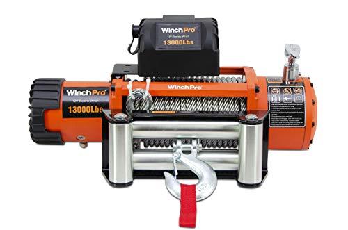 Verricello Elettrico 12V, 5900kg/13000lbs Capacità, 26m Fune D'acciaio, 2 Telecomandi Inclusi (1...