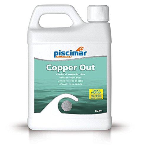 PM-655 Copper out: secuestrante de Cobre para el Agua de la Piscina. Botella 1.2 Kg.