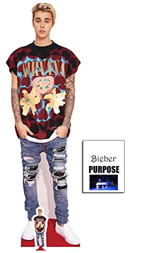 Justin Bieber Zerrissene Jeans Lebensgrosse Pappfiguren / Stehplatzinhaber / Aufsteller - Enthält 8X10 (25X20Cm) starfoto
