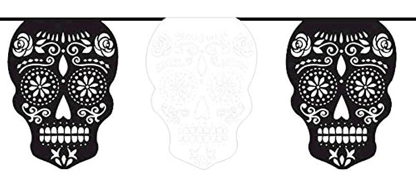 Black & Bone Flag Banner - Paper