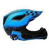 MOKFIRE Kids Full Face Helmet - Casco da Bici Bambini con quadrante Regolabile e mentoniera Staccabile e Luce Posteriore, Casco da Ciclismo per Giovani di età 3-14 per Bicicletta, Skateboard, Scooter