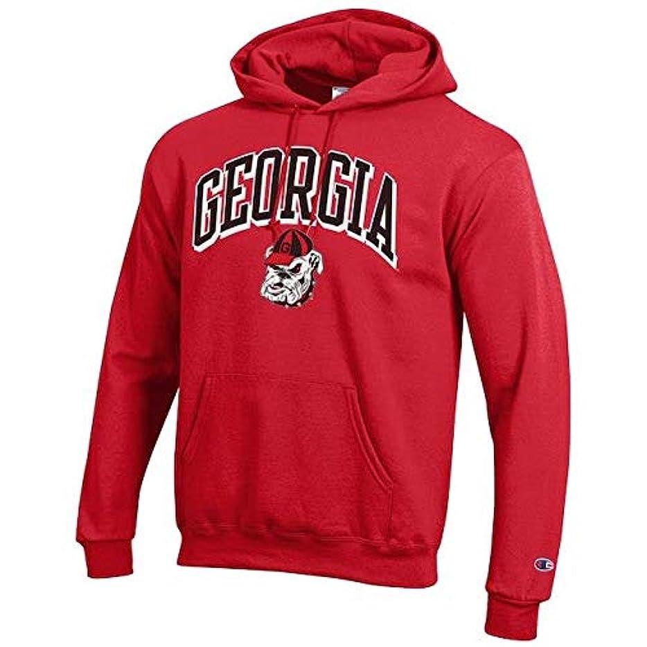 アンペアポジティブ主権者Champion Champion Georgia Bulldogs Red Arch Over Logo Powerblend Pullover Hoodie スポーツ用品 【並行輸入品】
