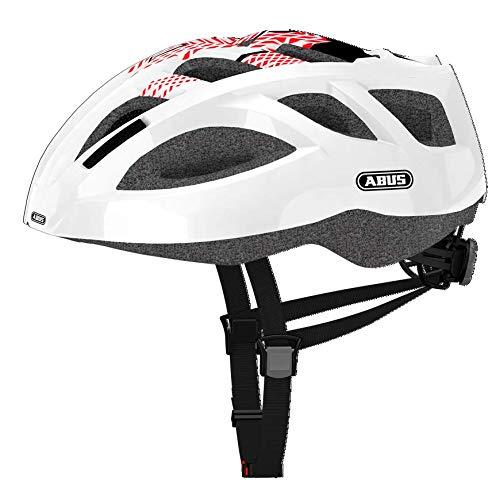 Abus Ambition Shiny - Casco para bicicleta unisex, color rojo