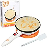MasterChef Cordless Crepe Maker with FREE Recipe Guide- Non-stick Dipping Plate plus Electric Base and...