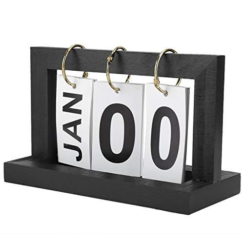 Calendario para voltear páginas, calendario de mesa simple, calendario de escritorio, base, sala de estar para sala de estudio, oficina en casa