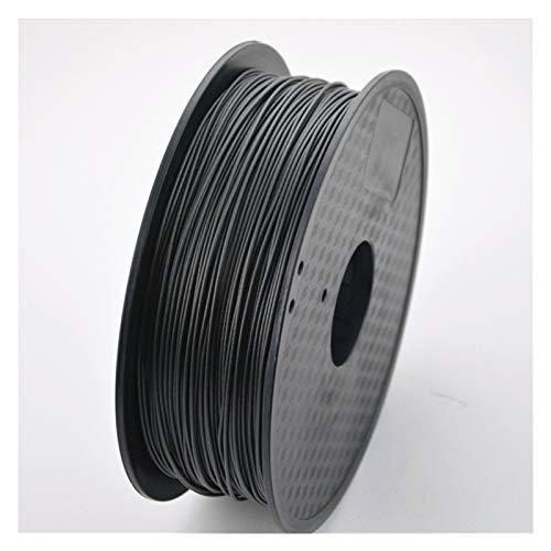 PPLAS Filamento de la Impresora 3D Fibra de Carbono 1.75mm / 3mm 0.8kg Material de Alta Resistencia para Impresora 3D a Base de Fibra de Carbono PLA (Color : Black 1.75mm)