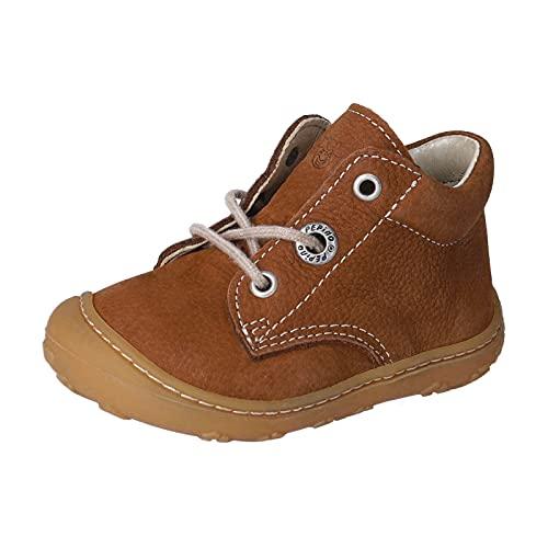 RICOSTA Unisex - Kinder Boots Cory von Pepino, Weite: Schmal (WMS),terracare,schnürstiefel,Booties,Leder,Kids,Curry (260),19 EU / 3 Child UK