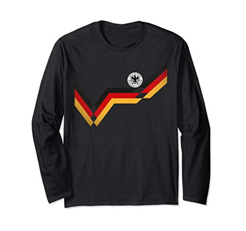 Germany Soccer Jersey Vintage German 1990 Retro Football Top Long Sleeve T-Shirt