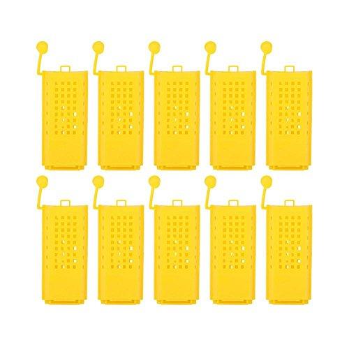 Zerodis 10 Pz Apicoltura Apicoltura Cup Kit Plastica Ape Queen Gabbie Rulli Trasporto Catcher Insectary...