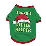 Perro Mascota Navidad Escudo Camiseta, Un Jersey Gorro De Navidad Trajes De Dos Piernas del Partido Sudadera Pijamas Suaves para Pequeñas Medianas Grandes Perros
