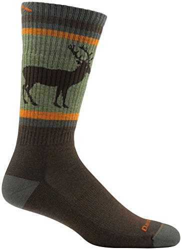 Darn Tough Uncle Buck Boot Cushion Sock - Men's Brown Large