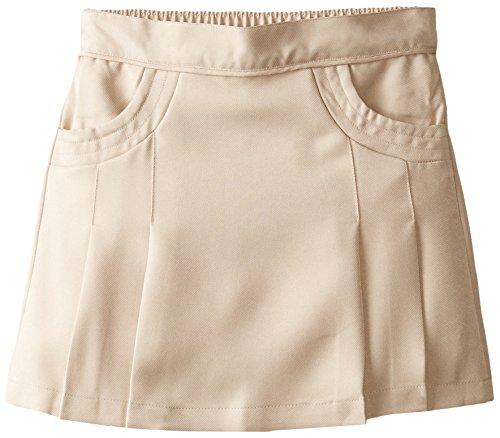 Nautica Girls' Big School Uniform Pleated Scooter with Pockets, Khaki, 8