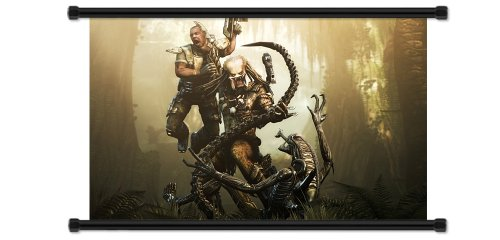 Alien vs Predator Video Game Fabric Wall Scroll Poster (32' x 20') Inches