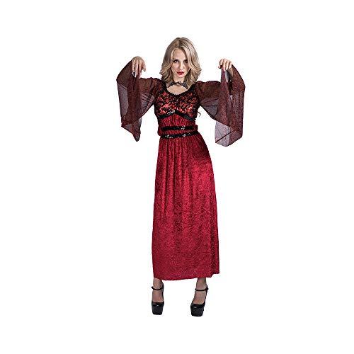 EraSpooky Damen Vampir Kostüm Faschingskostüme Cosplay Halloween Party Karneval Fastnacht Kleid für Erwachsene